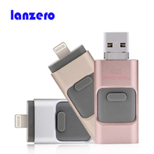 For iphone usb flash drive HD Pendrive Lightning data for iPhone/iPad/iPod, usb interface Pen Drive for PC/MAC 16G/32G/64GB/128g