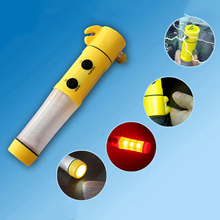 Emergency Car Accident Rescue With Flashlight Beacon Belt Cutter Multifunction Safety Hammer Glass Breaker Windows Rescue(China)