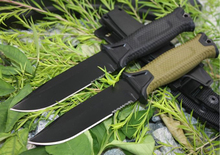 2 Options! 1500 Survival Fixed Knives,12C27 Steel Blade Hunting Knife,Camping Tactical Knife.