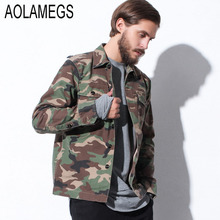 Aolamegs Camouflage Jacket Men Harajuku Vintage Jackets Shirt New Brand Clothing Fashion Camo Military Windbreaker Veste Homme - Official Store store