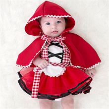 Emmababy Newborn Baby Girl clothes sets dress cloak Personalities Tulle Dresses Fancy Dress+Cape Cloak Outfit Clothing girl(China)
