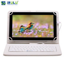 "iRULU 10.1"" eXpro X1Plus Tablet PC computer Quad Core 8GB RoM Android 5.1 Dual Camera Bluetooth WIFI with EN Keyboard Case"