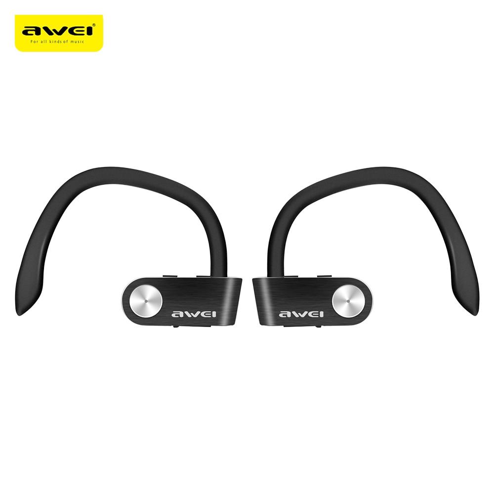 Original Awei T2 TWS Sports Ear Hook Bluetooth Earphones Wireless Waterproof Mini Separate Dual Earbuds Stereo Earphones Newest<br>