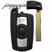 3 Button Remote Key Case for BMW 1 3 5 6 7 Series E90 E91 E92 E60 Smart Key Shell Blade Fob With L0G0