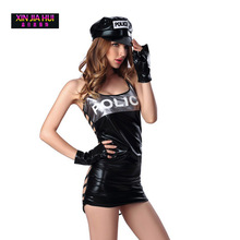 Buy Halloween Cosplay Policewoman Lady Erotic Lingerie Sexual Work Uniforms Temptation Sexy Stewardess Suit Dress Uniforms Playing