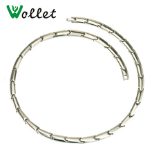 Wollet Jewelry 55 Cm Healing Energy Solid Germanium Infrared Negative Bio Magnetic Pure Titanium Necklace For Women