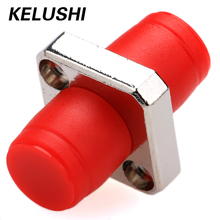KELUSHI 10PCS The Telecommunication Level FC Square Flange FC-FC Optical Fiber Coupler Adapter FC Optical Fiber Adapters