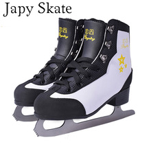 Japy Skate Ice Skate Tricks Shoes Adult Child Geniune Leather Ice Skates Professional Flower Knife Hockey Knife Real Ice Skates(China)