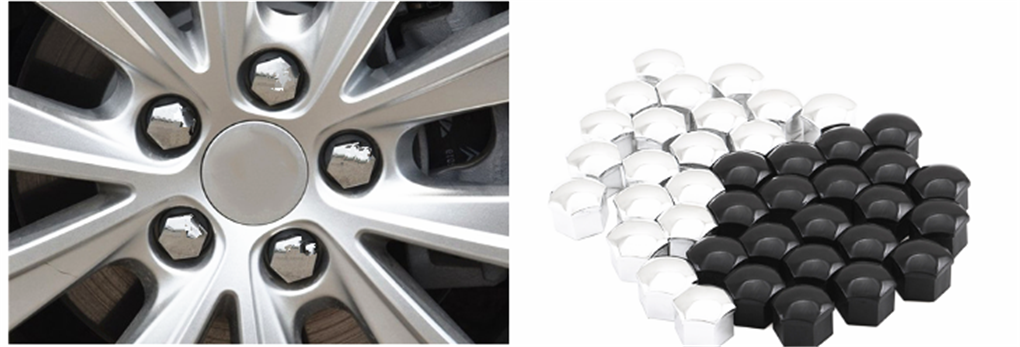 20 x Alloy Wheel Nut Caps Bolt Covers FOR FORD FIESTA FOCUS KA New forAll x 21mm