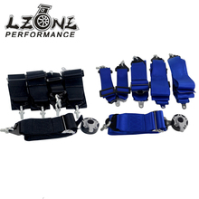 LZONE RACING - New type FIA 2020 Homologation 3 inches 6Point S** Style Racing Seat Belt RACING HARNESS(BLACK,BLUE) JR-SB61(China)