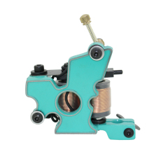 Free Shipping! Hot Professional Handmade Tattoo Machine Retail or Wholesale 10 Wrap Coils Machine 1100256