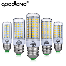 Goodland E27 LED Lamp E14 LED Bulb Smart IC 220V 240V Corn Light No Flicker 24 36 48 56 69 81 89LEDs SMD 5730 Chandelier Light(China)