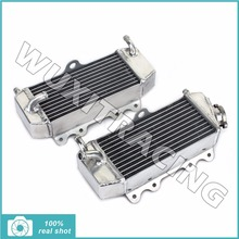 1Pair L/R Aluminium Core MX Offroad Motorcycle Radiators Cooling for YAMAHA WR 250 F WR250F 01-05 YZ 250 F YZ250F 01-06 02 03 04