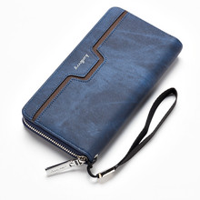 Baellerry NEW fashion men wallets Casual Clutch luxury coins wallet Mobile phone bag High capacity Multifunction men money Purse(China)