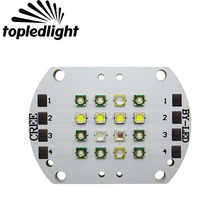 Topledlight Customize 48W 4 Channel Fish Aquarium Led Emitter Lamp Light Cree XPE + Epileds 420NM 430NM 450NM 470NM 495NM 6500K