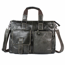 L# The explosion of oil wax head layer leather handbag briefcase business men single shoulder bag FREE SHIPPI