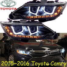 car-styling,Camry headlight,2015~2017,Free ship!2pcs,Camry fog light;car-covers,chrome,Camry head light