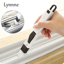 Lynnne Window Groove Cleaning Brush with Dustpan Nook Cranny Household Computer Keyboard dust Brush Home Kitchen Cleaning Tool(China)