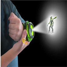 Hot sale anime Ben 10 omnitrix watch Style toys led kids projector cartoon  Ben 10 Watch Toy Ben10 Projector Medium Support Drop