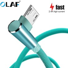 Micro USB Cable Fast Charge USB Cord 90 degree elbow Data sync Cable Samsung/Sony/Xiaomi Android microusb Charger USB Cable