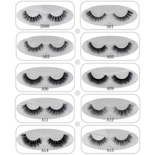 Lash Mink Eyelashes 3D Mink Hair Lashes Wholesale Real Mink Fur Handmade Crossing Lashes Thick Lash Makeup 23 Styles 1 Pair(China)