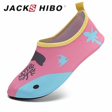 Buy JACKSHIBO Summer Child Water Shoes Anti-skid Kids Sandals Breathable Vamp Quick Drying Slip-On Girls Boys Beach Shoes for $5.99 in AliExpress store