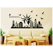 The statue of liberty Noctilucent sticker Wall Sticker Decal party decoration Kids Nursery home decor shop store window stickers(China)