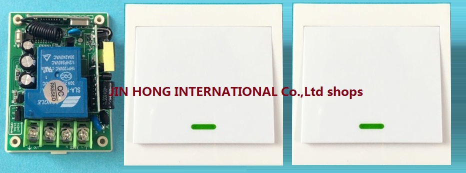 AC85V-250V 3000W RF Wireless Remote Control Switch System @ Smart Home Light With Wall Transmitter 1*receiver +2*remote control<br><br>Aliexpress