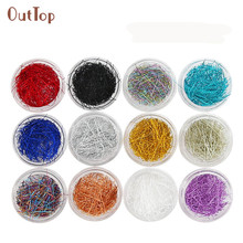 Nail design OutTop 12Color/1Box Pretty Superfine Silk Nail Wire Line 3D Nail Decoration for Nail Art Decoration DIY Manicure Tip(China)