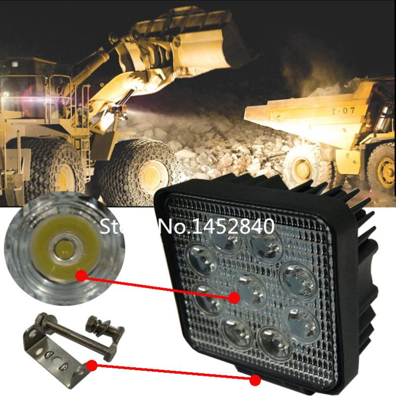 2pcsx 4 Inch 27W 12V 24V LED Work Light Off Road Spot Flood Fog Light ATV Tractor Train Bus Boat Flood Beam 4x4 ATV UTV<br><br>Aliexpress