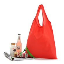 Custom Red Strawberry Foldable Shopping Bag Promotional Gifts Tote Bag with Customized Logo Printed(China)