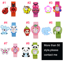 Animal Fashion Unisex Silicone Wristwatch Geneva Watch Fashion Quartz High Quality SLAP WATCH Children Gift Boy Girl(China)