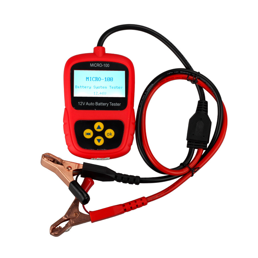Car Battery Tester MICRO-100 Digital Battery Tester Battery Conductance &amp; Electrical System Analyzer 30-100AH<br><br>Aliexpress