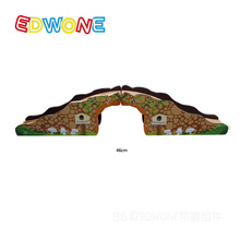 Thomas and Friends -- Thomas Wooden Train Track Railway Accessories --Single Hole Arch Bridge  Edwone Color Track