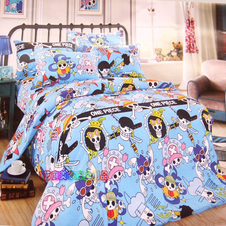 drap housse one piece Anime Manga One Piece Bed Sheet 150*200cm Bedsheet 004 in Sheet  drap housse one piece