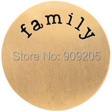 Top Selling New Design Stainless Steel Good Family Plate fit 30mm Floating Locket for Your Family 10Pcs/Lot P0026