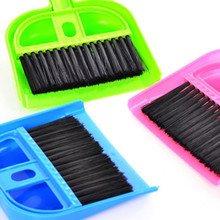 High quality high elasticity wire brush 1 PCS Mini Desktop Sweep Cleaning Brush Small Broom Dustpan Set Cleaning Tools(China)