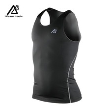 Buy Men Compression Tank Vest Cycling base layer running Workout sleeveless Shirts Fabrics Breathable Sport Training Vest for $11.95 in AliExpress store