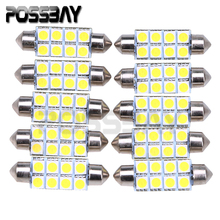 10 Pieces 41mm 5050 8SMD White Micro General Car Interior Festoon Dome Lamp for Car Tail Light Parking Door Map LED Light Bulbs