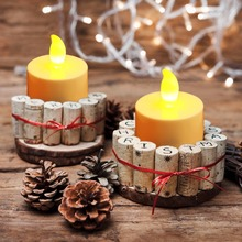 50pcs/lot Flicker Tea Candles Light New LED Flameless Tealight Battery Operated for Wedding Birthday Party Christmas Decor(China)