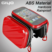 Bike Bicycle Frame Front Head Top Tube Bag Double Rainproof Cycling Pannier For 4.7/ 5.5 / inch Smartphone Touch Screen GIYO