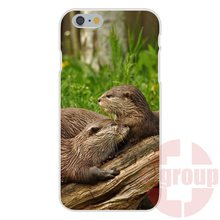 Soft TPU Silicon New Style Unique lovely otters holding hands For Galaxy S2 S3 S4 S5 S6 S7 mini edge
