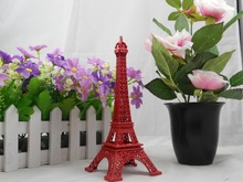13CM Red Painted Torre Eiffel Paris Eiffel Tower Decor(China)