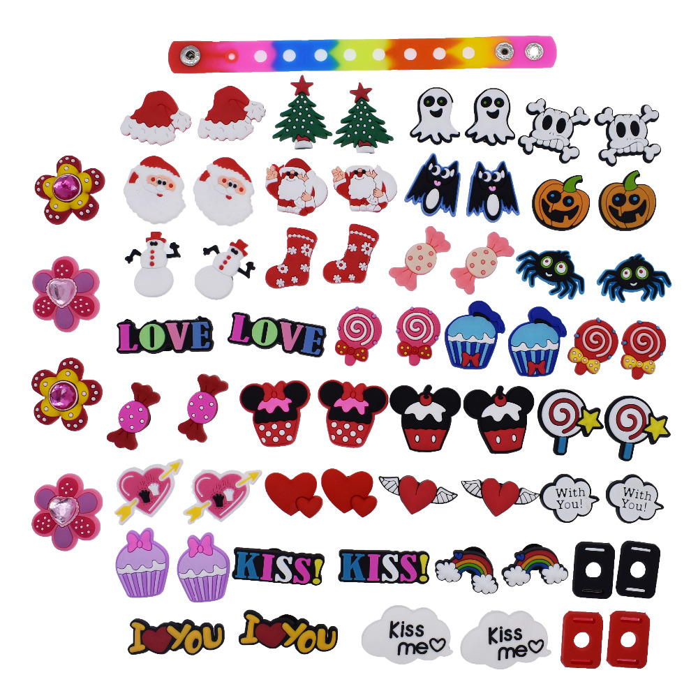 XHAOYEAHX Pack of 50 Shoe Charms of Letters Alphabet Numbers Love Kiss Words ...