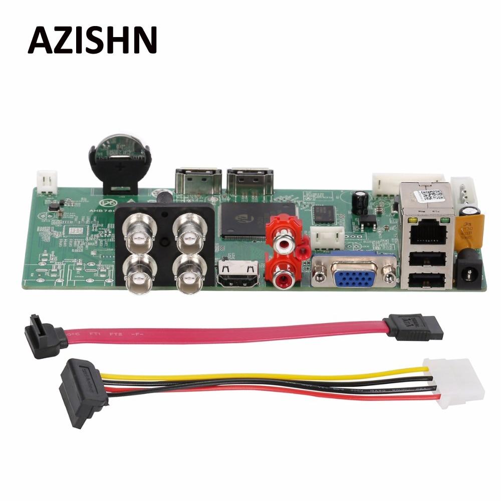 AZISHN AHD DVR 4CH Board AHB7804R-MH-V3 1080P AHDH TVI CVI XVI 5 in 1 ONVIF HDMI Output Email Alert Motion Detection XMeye P2P <br>