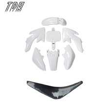 TDR Motorcycle Accessories Pit Bike Plastic White + Seat Set CRF50 50cc 110cc 125cc 140cc Dirt bike 2Set for Honda HHY(China)