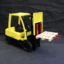 1/25 Scale Hyster 2.5 Electric Lift Truck Car Model Toys Yellow Car Model Gifts Collections For Children