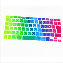 "Japanese Rainow Japan jp Silicone KeyboardX100  Cover Skin Protector film membrane for MacBook Pro/retina 13"" 15"" 17"" Air 13.3"