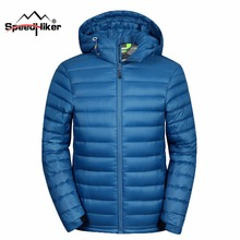 Speed Hiker Down Jacket Men 2016 Winter Male Warm Waterproof And Windbreak Fashion Heat Reflective Hat detached Plus size 3062