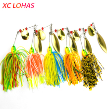 Buy 1 Piece 18.3g Spinner Bait Double Reflective Golden Metal Spoon Buzz Bait 3D Fish Eye Fishing Lure Barbed Hook SB001 for $1.32 in AliExpress store